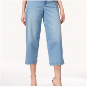 Style & Co Culotte Cropped Jeans  Pants Size 16